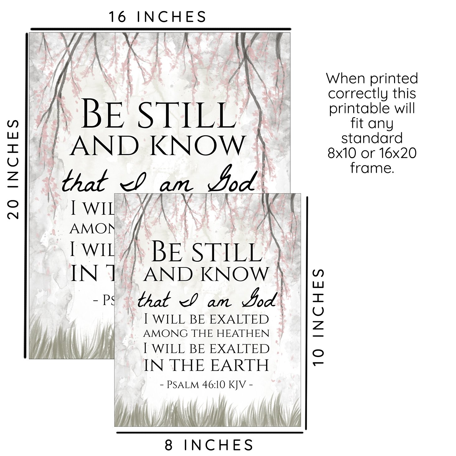 Be Still And Know Psalms Scripture Printable Sparrow Springs