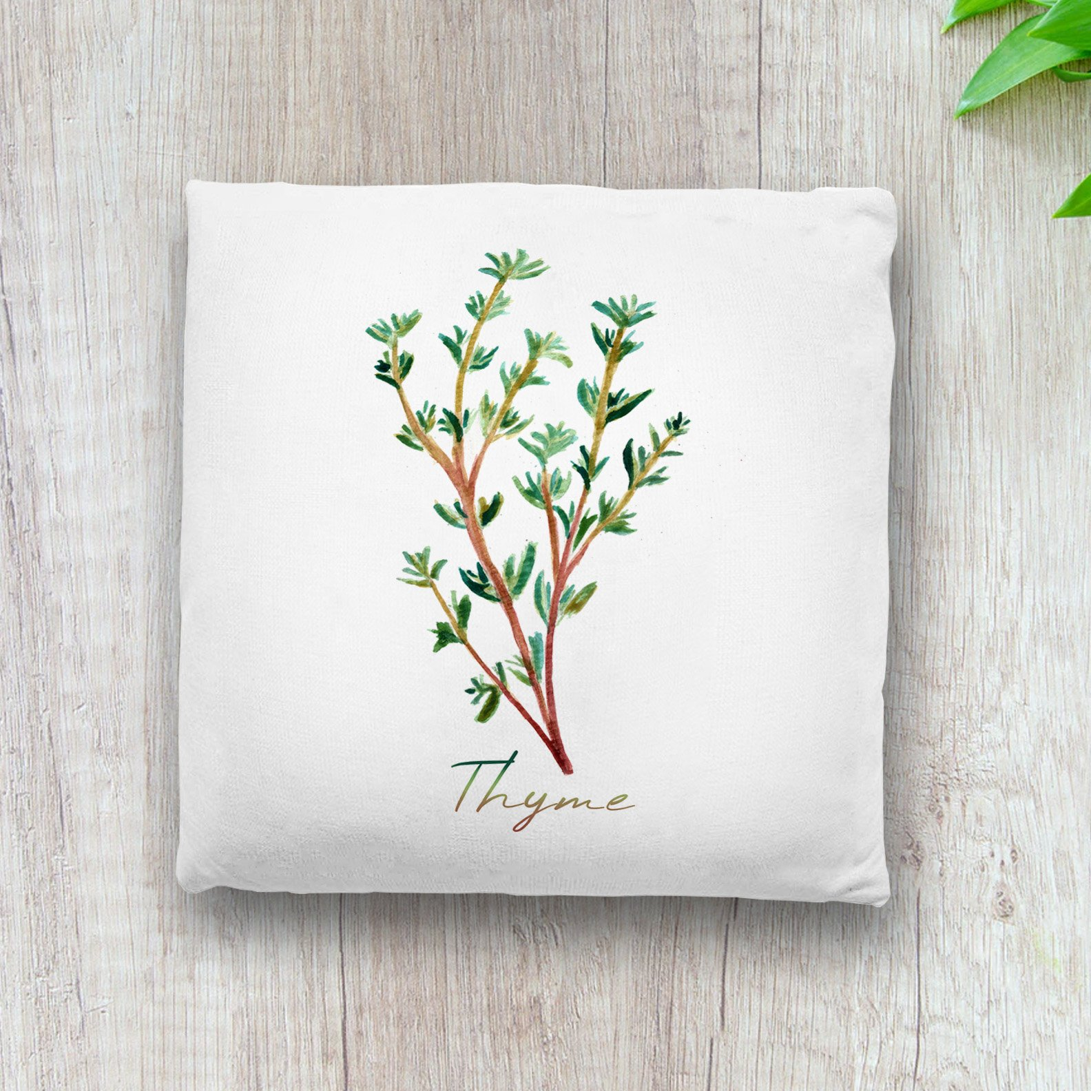 6-thyme-throw-pillow-herb-botanical-watercolor-painting