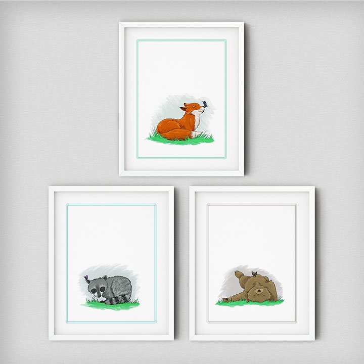 baby-animals-raccoon-fox-bear-childrens-art