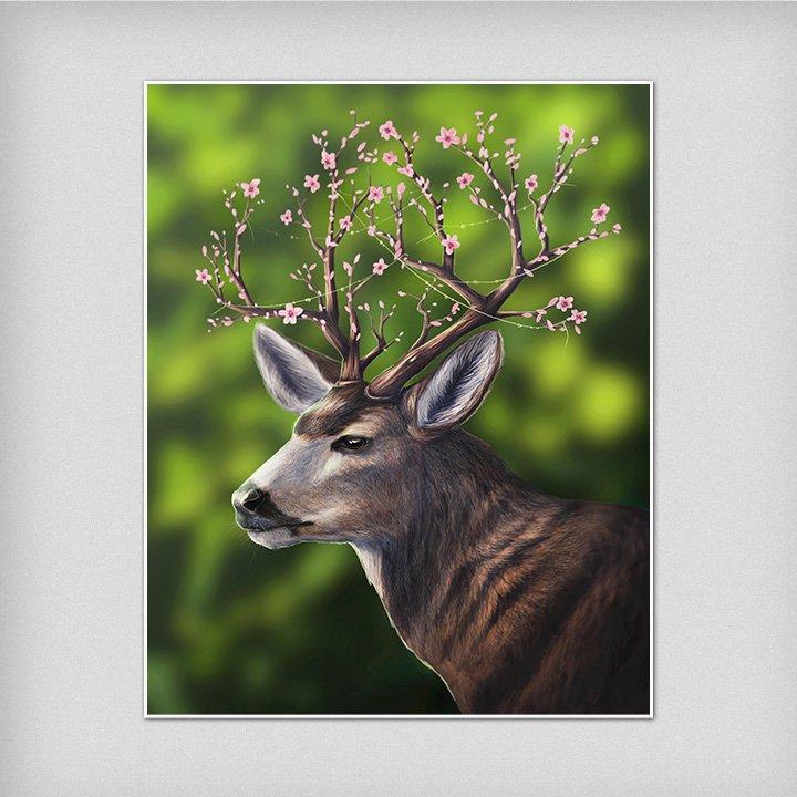 print-wall-art-fantasy-deer-animal-art