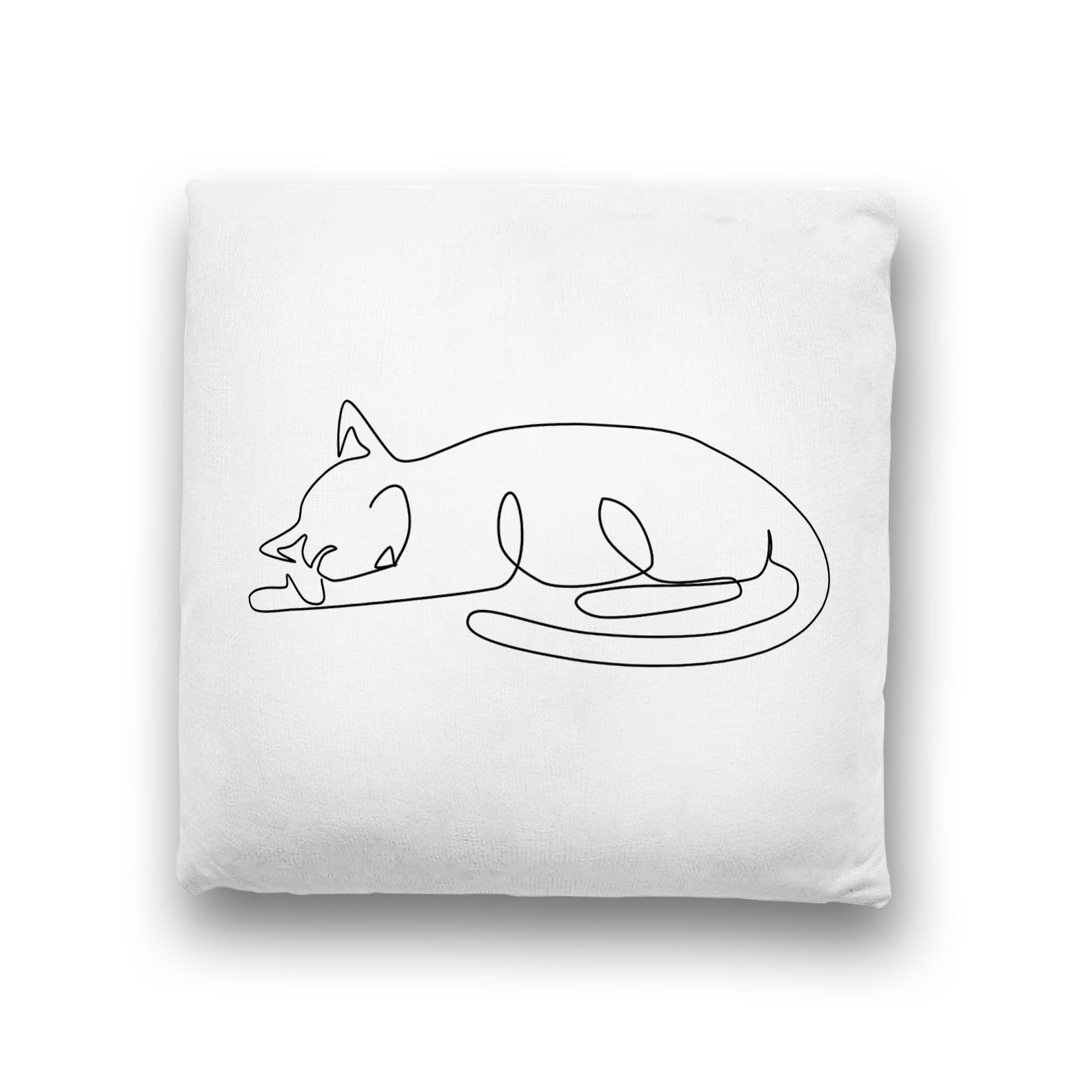sleeping-cat-minimalist-line-art-throw-pillow