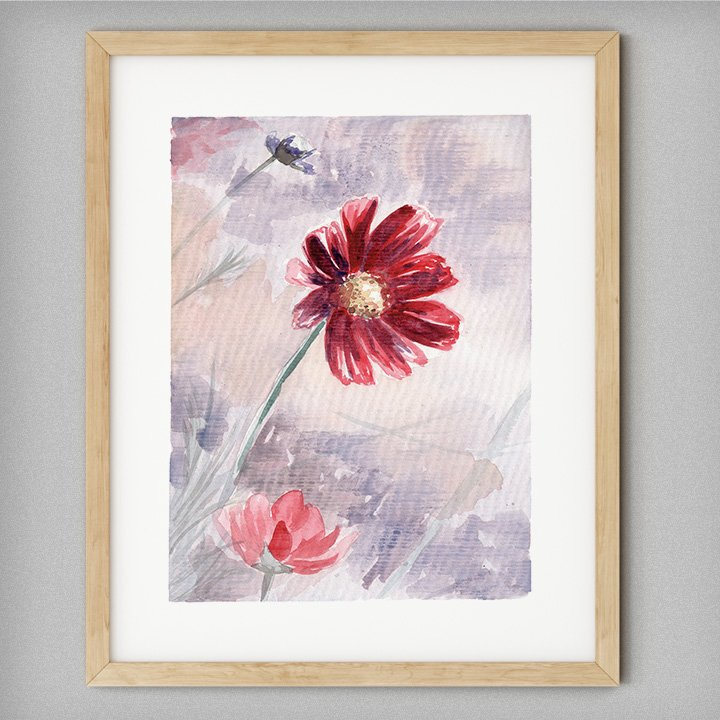 watercolor-flower-painting-wall-art