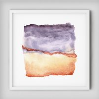 abstract-watercolor-violet-rusty-orange-print