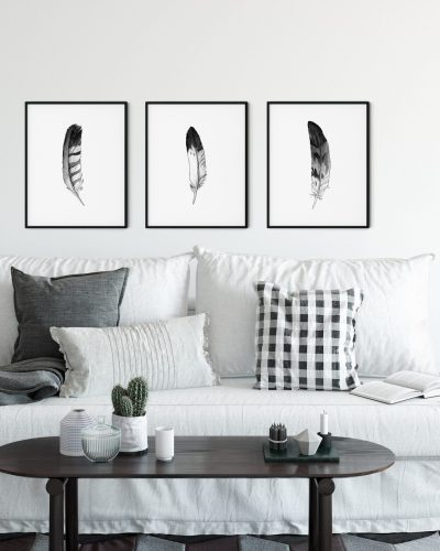 ink-watercolor-eagle-feathers-wall-art